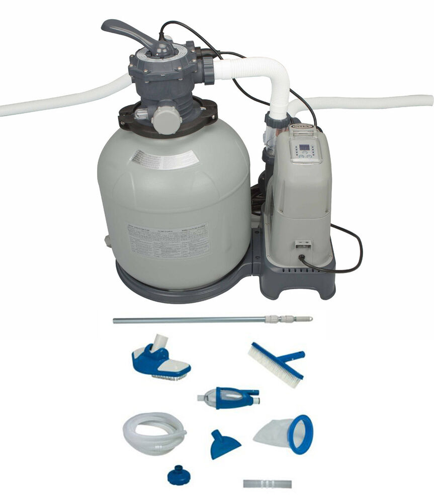 Intex 2650 Gph Sand Filter Pump Saltwater System Set W Deluxe Maintenance Kit Ebay