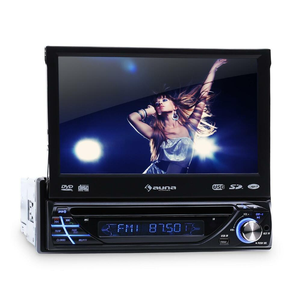 autoradio mit touchscreen bluetooth dvd cd player usb sd aux mp3 1din moniceiver ebay. Black Bedroom Furniture Sets. Home Design Ideas