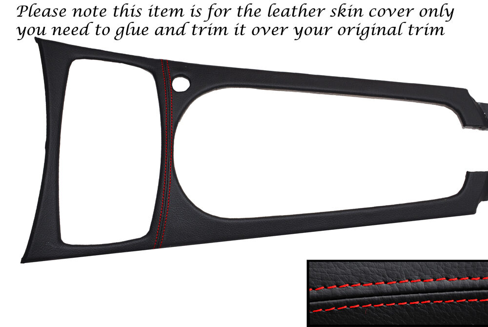 Red Stitching Centre Console Trim Leather Skin Cover Fits Bmw Z4 E85 03 11 Ebay