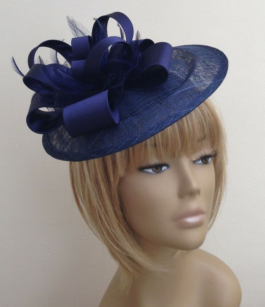New Bespoke Navy Blue Hat Weddings Mother Of The Bride