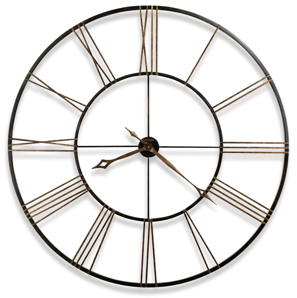625 406 postema 49 large wrought iron wall clock howard miller 625406 ebay - Large brushed nickel wall clock ...