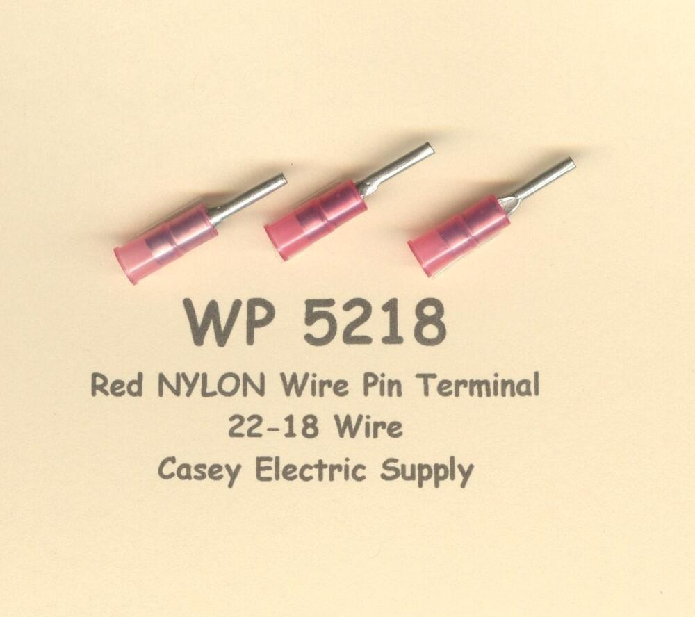Insulated Cable Gauge Diagram 22 : Red nylon insulated wire pin terminal connectors