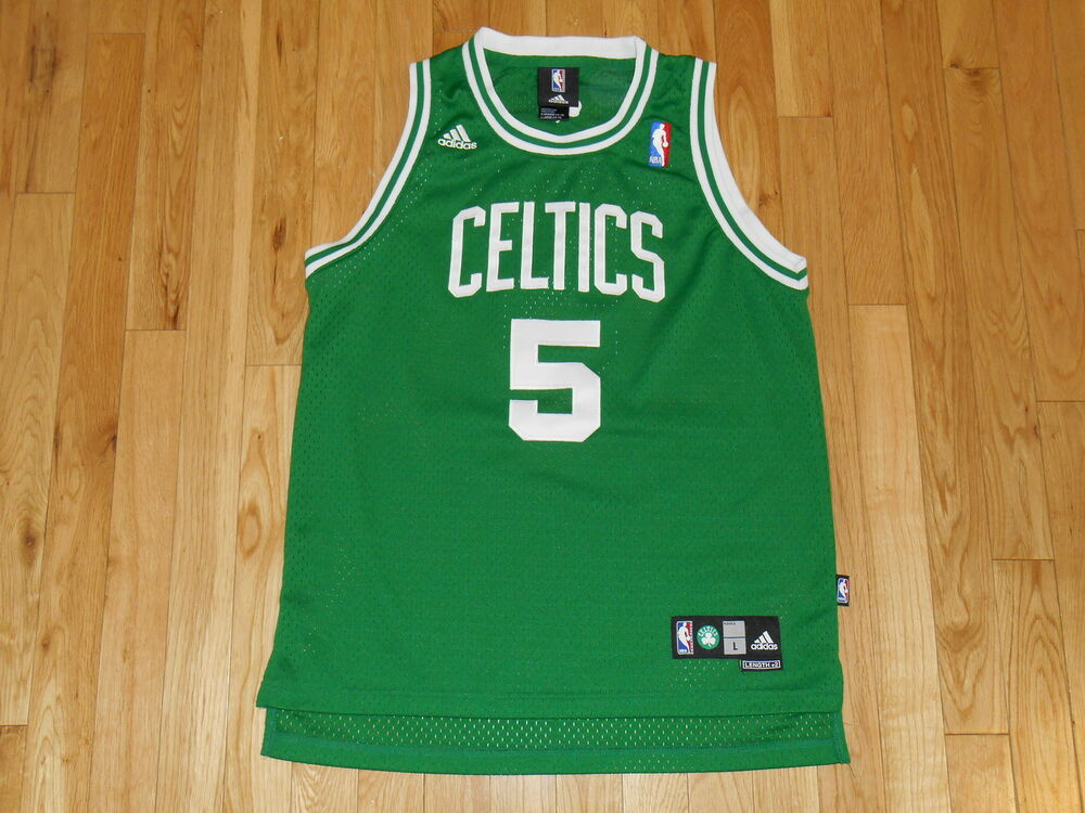 0f204a82536c adidas KEVIN GARNETT Green BOSTON CELTICS Youth NBA Team Swingman JERSEY L  14-16