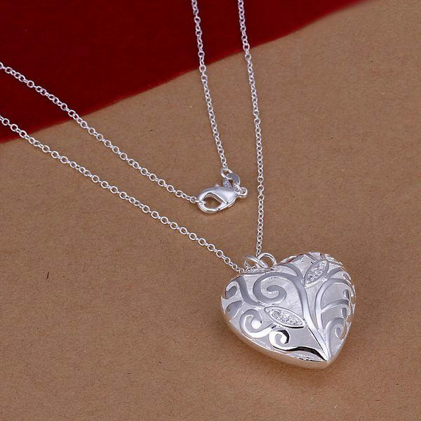 925 sterling silver fashion women love heart cute women for L love jewelry reviews