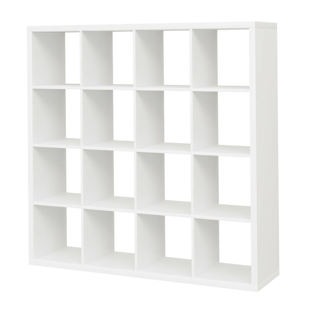 Ikea kallax regal in wei 147x147cm raumteiler b cherregal passend zu expedit ebay - Kallax regal weiay ...