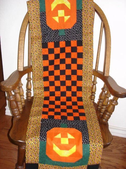 Instructions Only Mr Jack O Lantern Halloween Table Runner