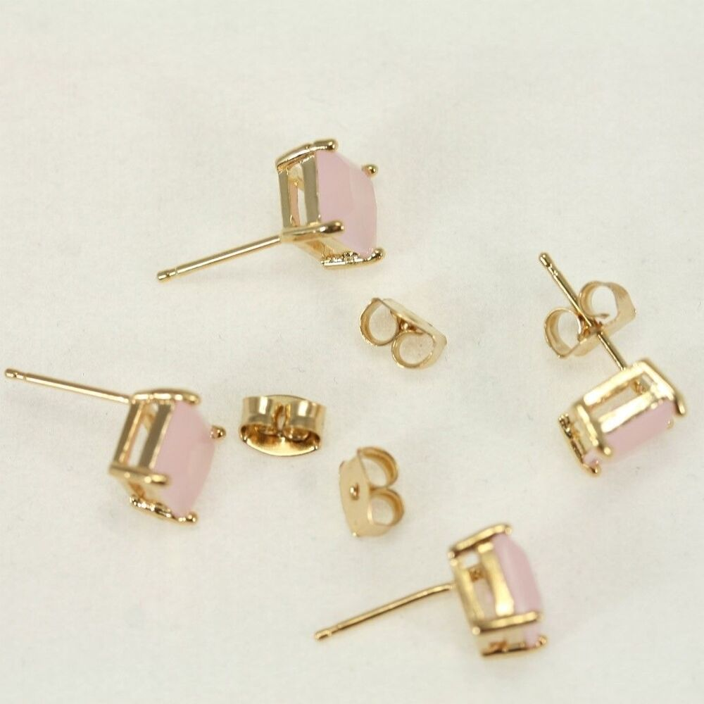 Earring findings bezel framed glass earring hook stud for Earring supplies for jewelry making