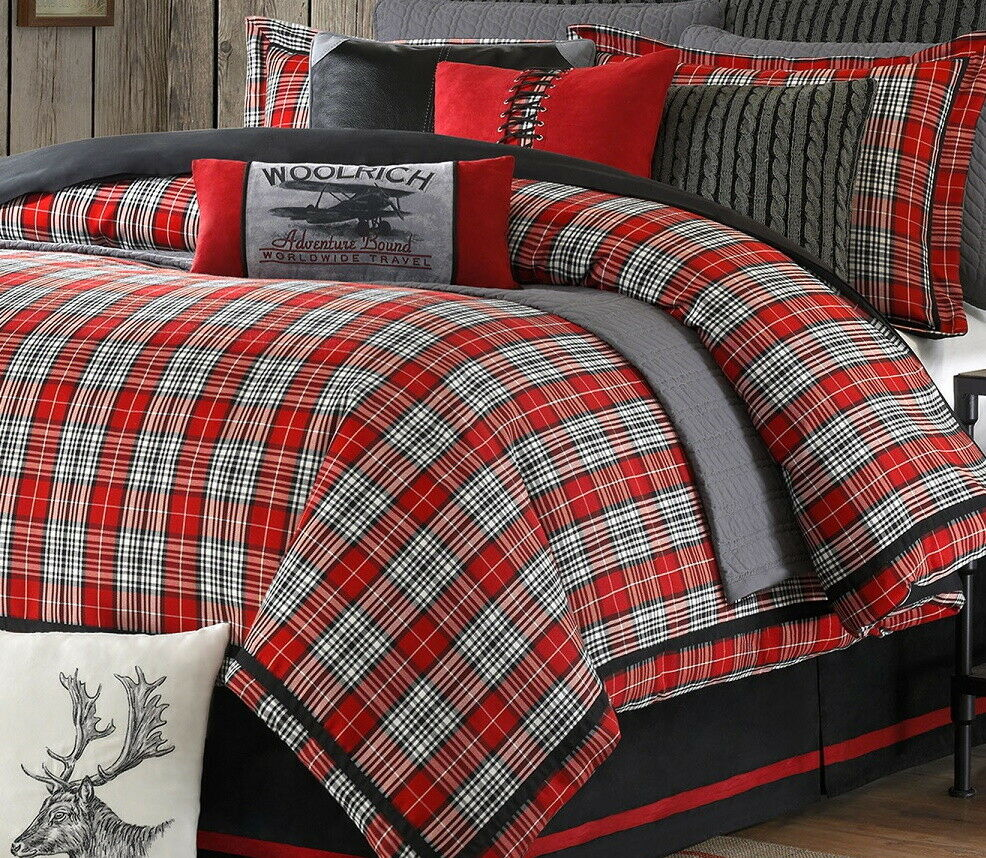Red Plaid King Bedding