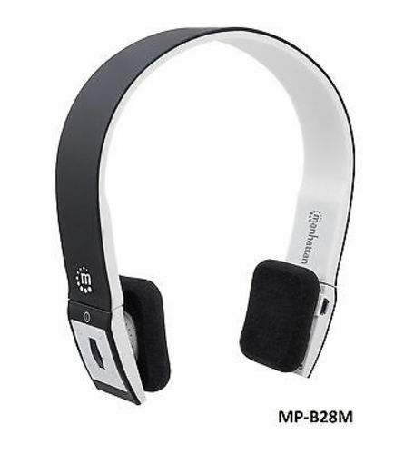 on ear wireless bluetooth 2 1 headphones w mic volume control black white ebay. Black Bedroom Furniture Sets. Home Design Ideas