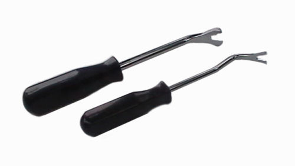 2 pc auto nylon trim door panel window molding upholstery clip removal tool kit ebay. Black Bedroom Furniture Sets. Home Design Ideas