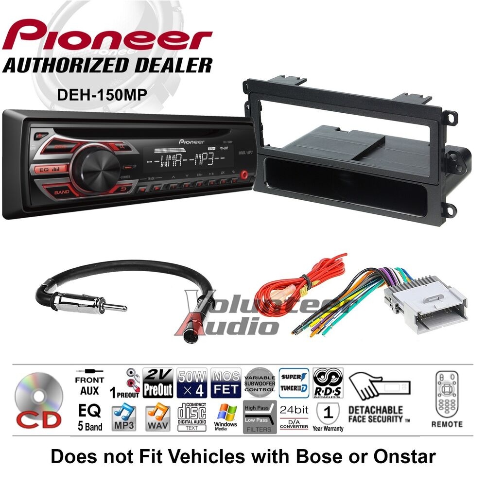 Pioneer Metra American Internationalscoschecar Cd Stereo Receiver Car Radio Player Mount Install Kit Wiring Harness Antenna Details About Dash Mounting