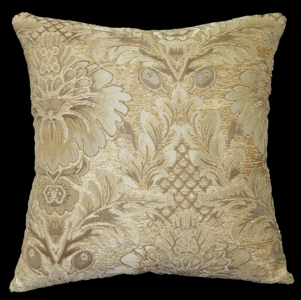 we59a Beige Damask Flower Chenille Throw Pillow Case/Cushion Cover*Custom Size eBay