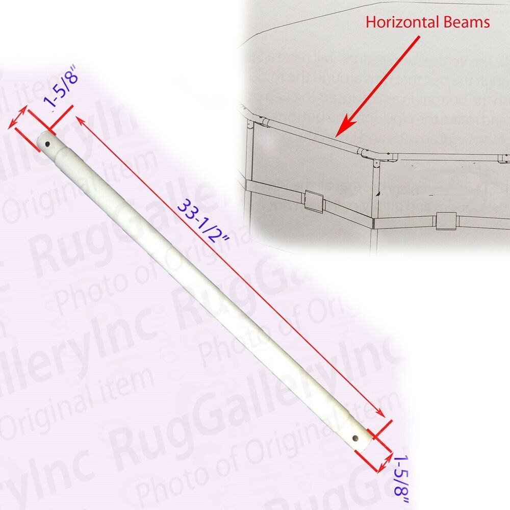 Horizontal Beam Pole Parts For Summer Escapes Metal Frame Pool 15 39 X42 18 39 X 42 Ebay