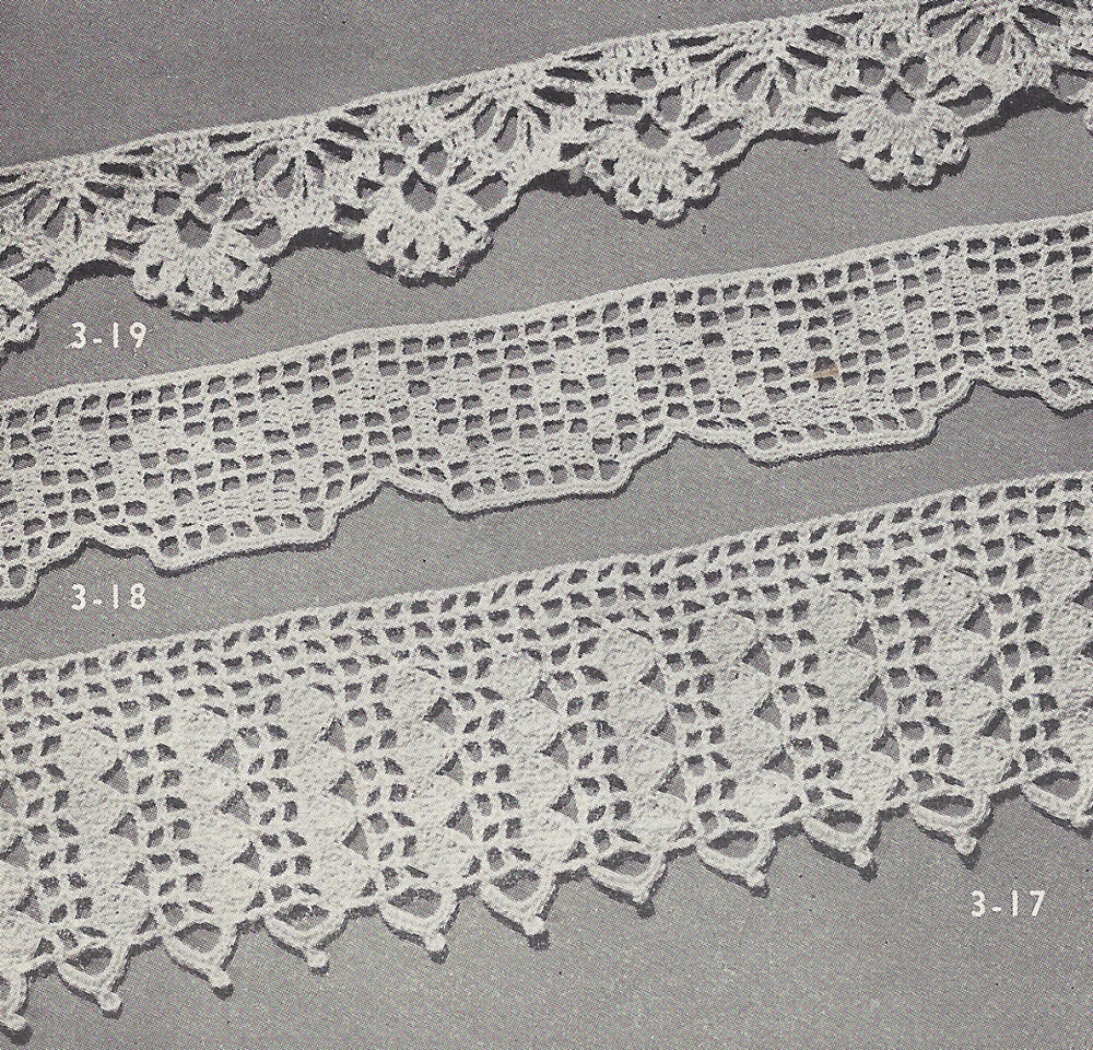 Crochet Lace Wedding Garter Pattern: Vintage Crochet PATTERN To Make 3 Easy Lace Edging Designs
