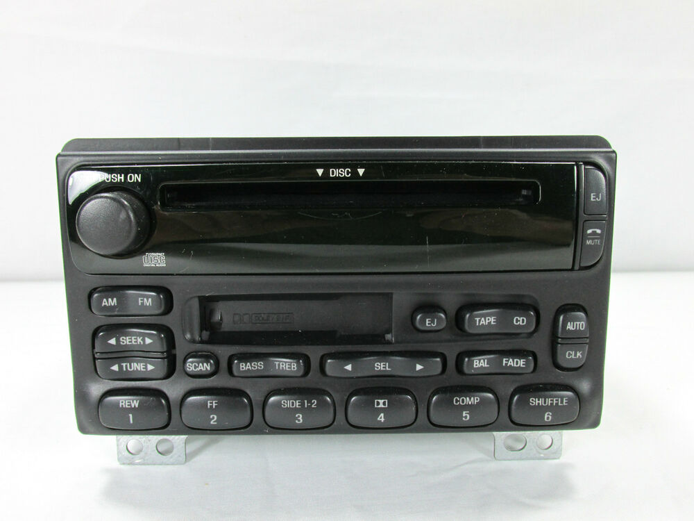 02 05 ford explorer am fm radio cassette tape cd player. Black Bedroom Furniture Sets. Home Design Ideas