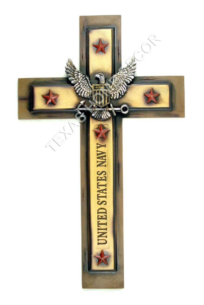 Usaf Wall Decor : Large united states navy decorative wall cross eagle shield red stars military