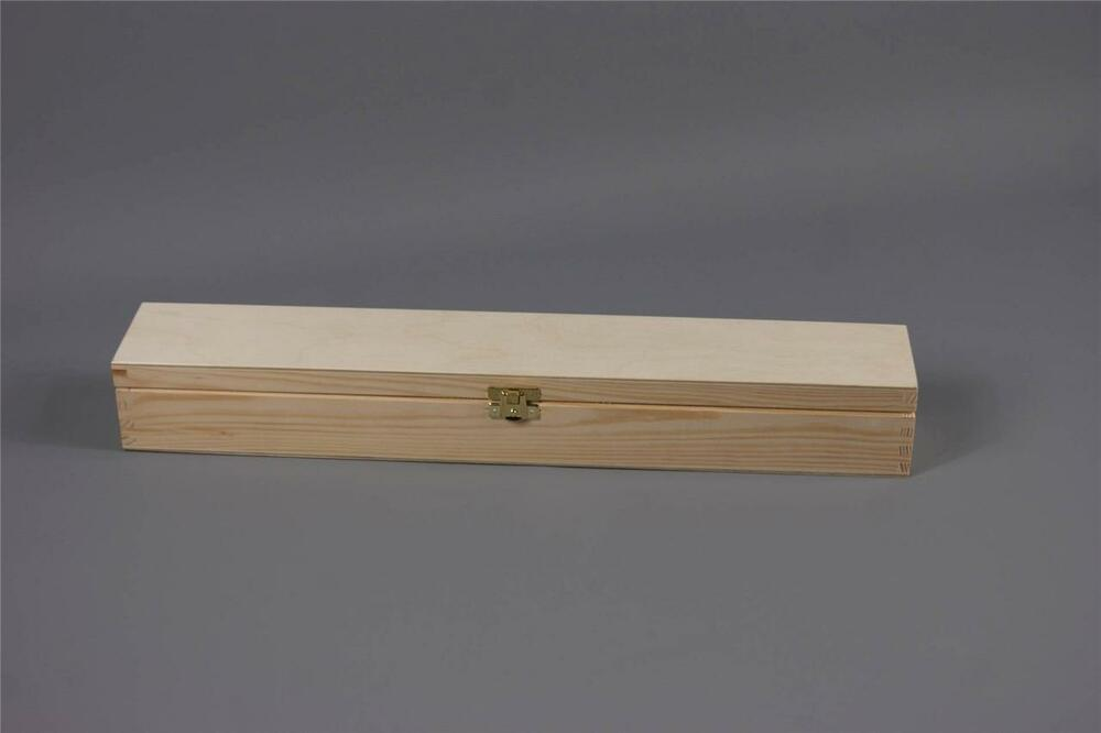 Plain Wooden Long Candle Christening Chest Wooden Box