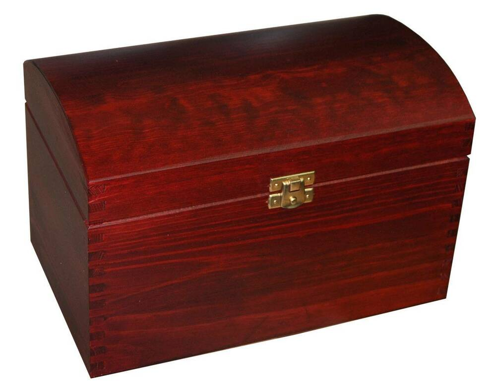 Laquered large treasure chest wooden box storage for Storage treasures