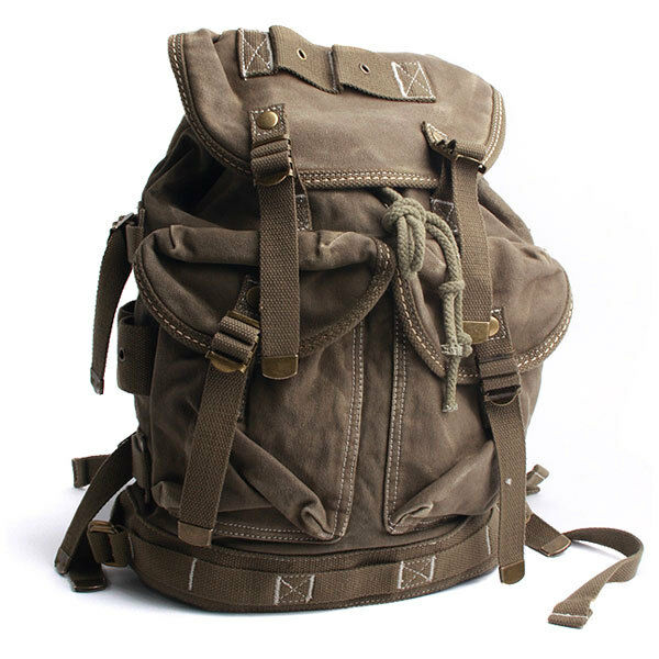 Vintage Washing Canvas Outdoor Military Mens Womens