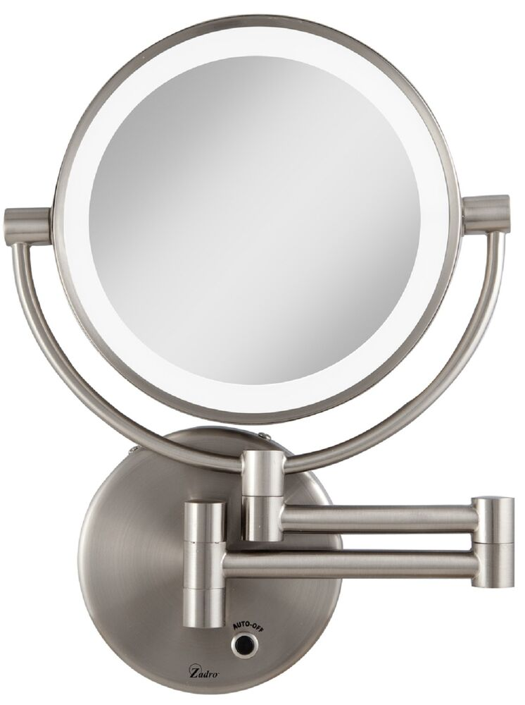 Zadro 5X/1X Magnification Cordless LED Lighted Wall Mount Makeup Mirror LEDMW45 eBay