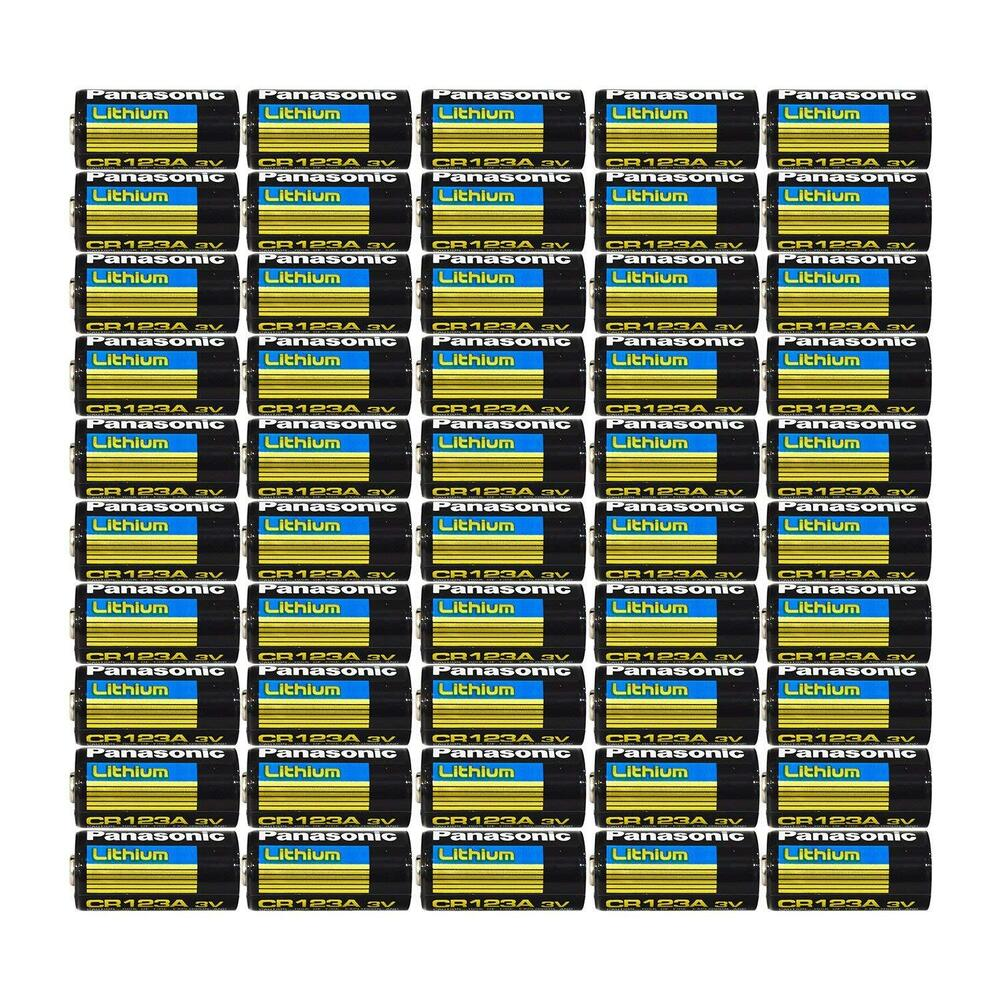 50 pcs of panasonic lithium cr123a 3v batteries ebay. Black Bedroom Furniture Sets. Home Design Ideas
