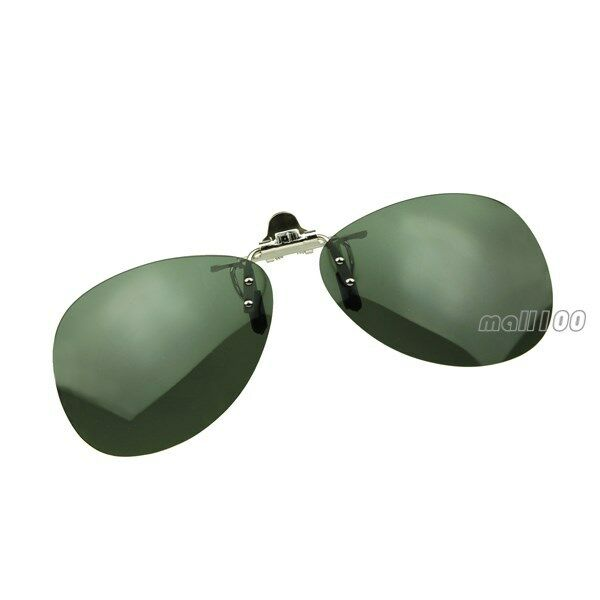 Reflective Flip Clip-on Anti-glare Sun Clips Lens ...
