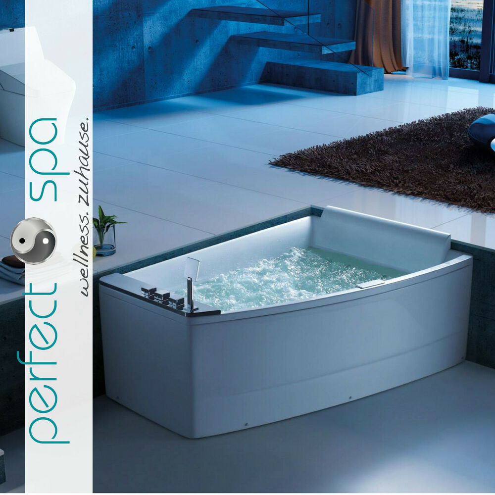 perfect spa neu whirlpool badewanne whirlwanne canvas wanne eckbadewanne rechts ebay. Black Bedroom Furniture Sets. Home Design Ideas