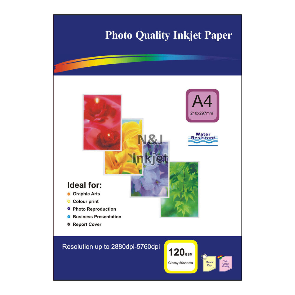 120gsm A4 Glossy Photo Inkjet Printer Paper