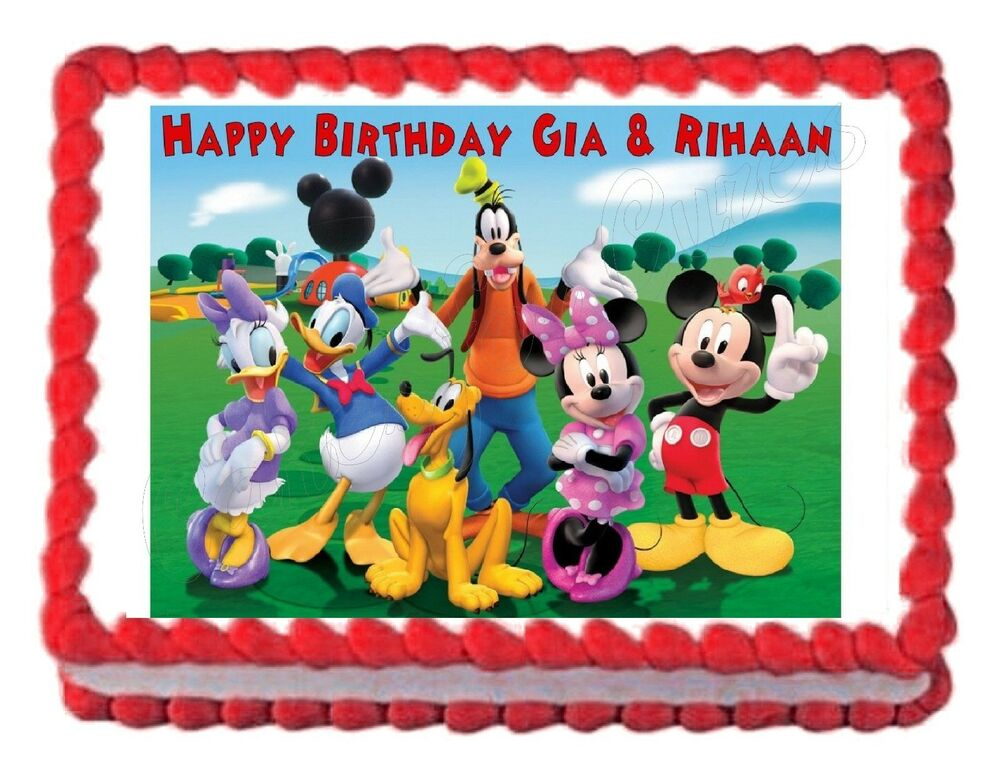 MICKEY MOUSE CLUBHOUSE party edible image cake topper ...