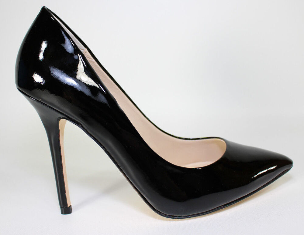 Black Patent Pointed Toe Shoes