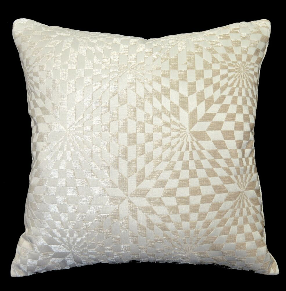Wg07a tan geometric check cotton throw pillow case cushion cover custom size ebay - What is a throw pillow ...