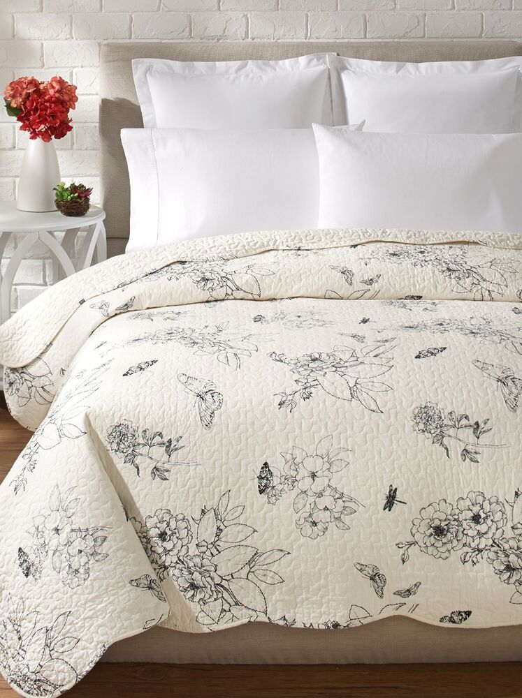 Dandridge Black Toile Full Queen Quilt French Country