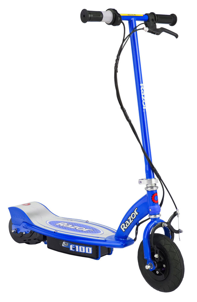 Razor e100 motorized 24 volt rechargeable electric power for Razor e300 electric 24 volt motorized ride on kids scooter