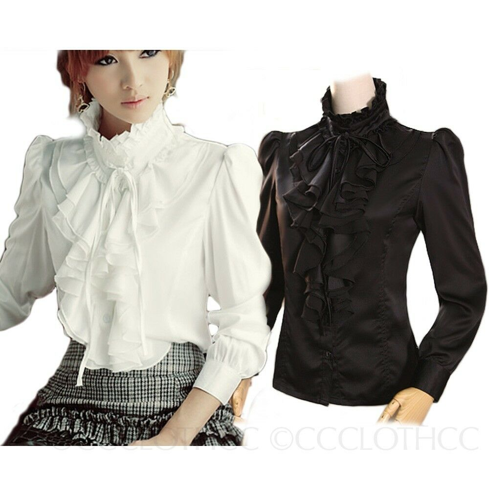 Women'S High Neck Blouses 3