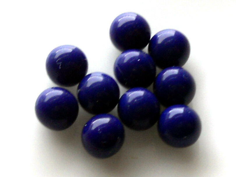 Vintage glass balls mm eyes blue round no hole marbles
