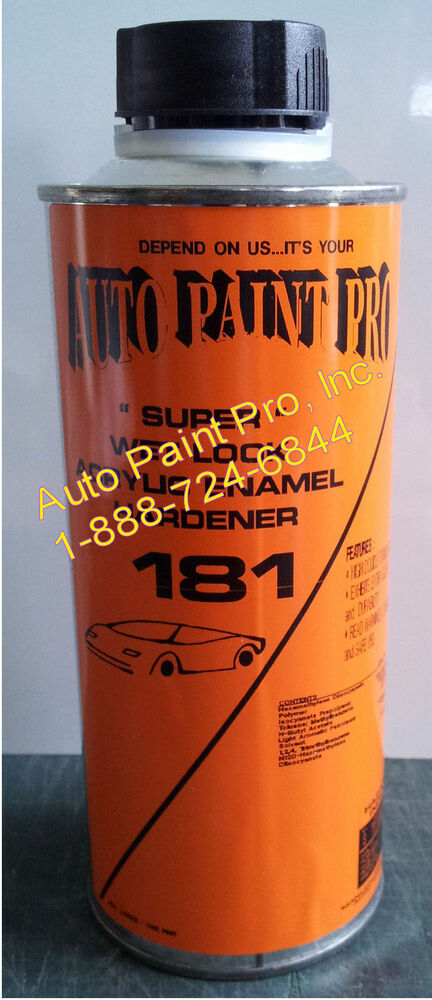 Auto body shop paint supplies acrylic enamel wet look for Automotive paint suppliers