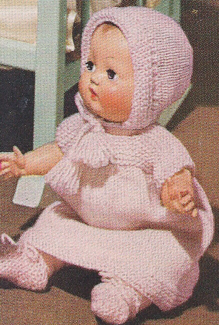 Vintage Knitting Pattern To Make Baby Doll Clothes Dress