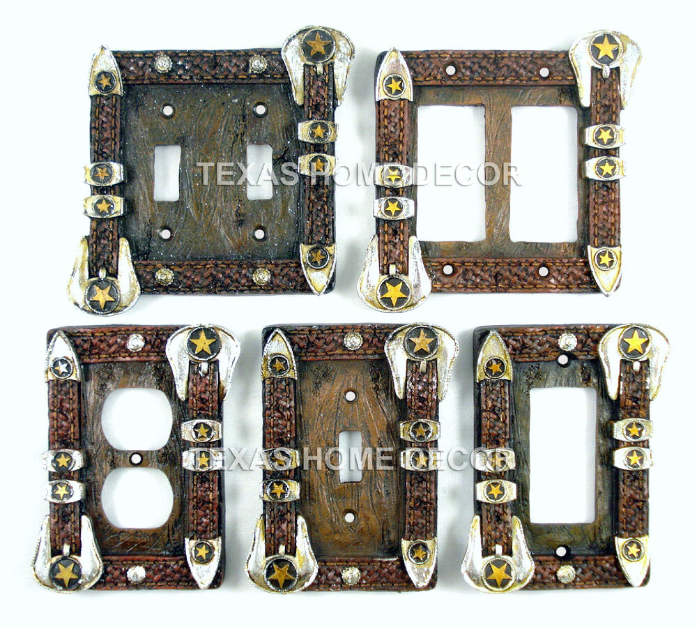 decorative light switch covers western belt buckle switch plate covers electric 11068