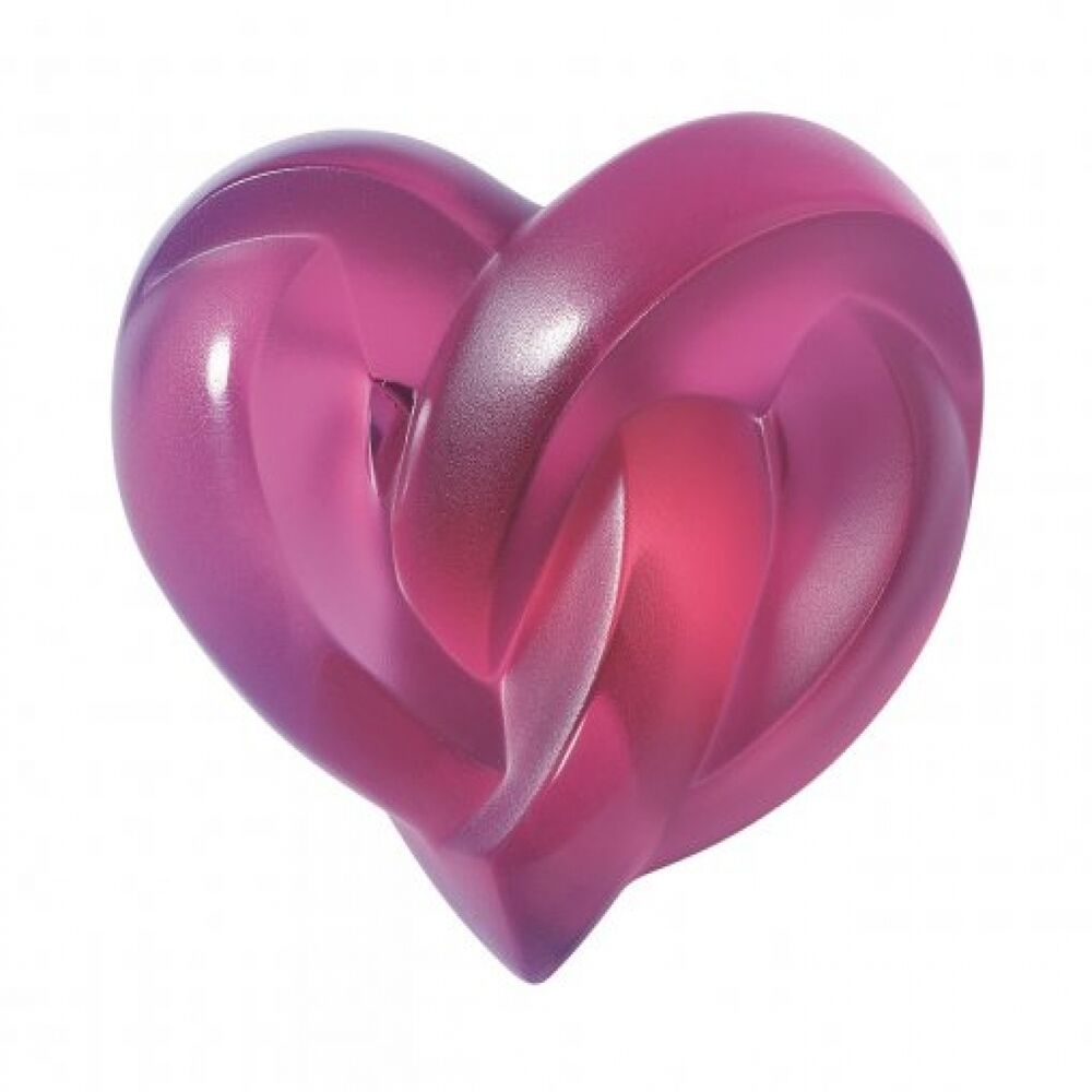 Lalique glass heart paperweight