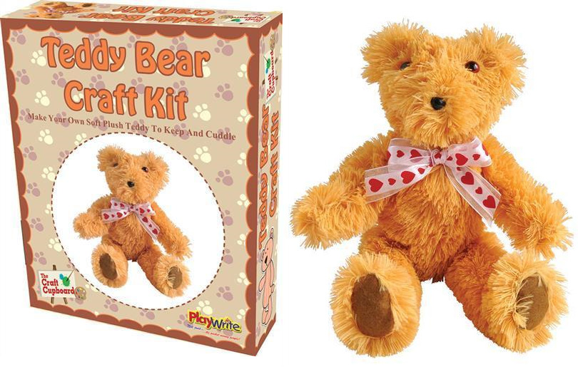 Make your own complete plush 22cm cuddly teddy bear for Make your own teddy bear template