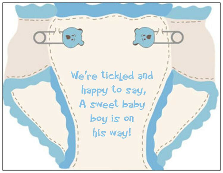 Custom Baby Girl Boy Diaper Diapers Shower Invitations