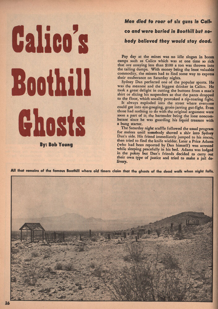 calico ghost town mines names adams coleman dan ellis