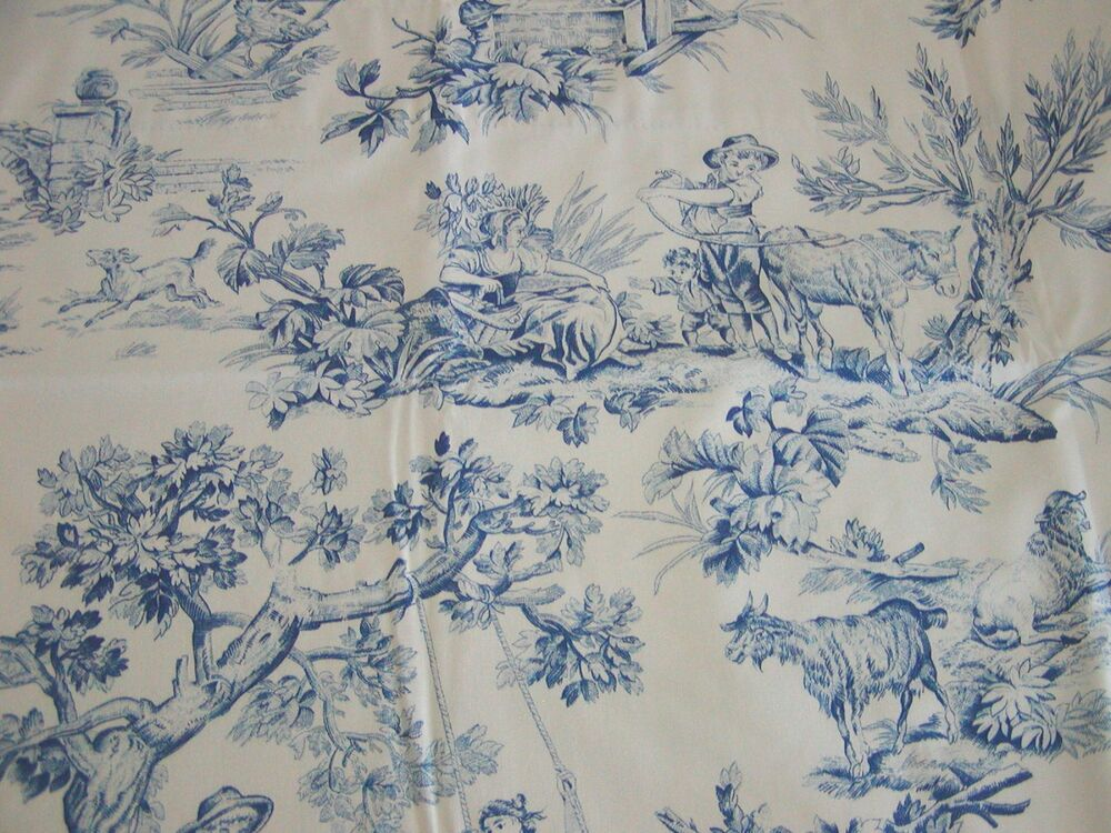 "BLUE TOILE ~ 37"" SWAG VALANCE Lined ~ ROD POCKET by COUNTRY CURTAINS ..."