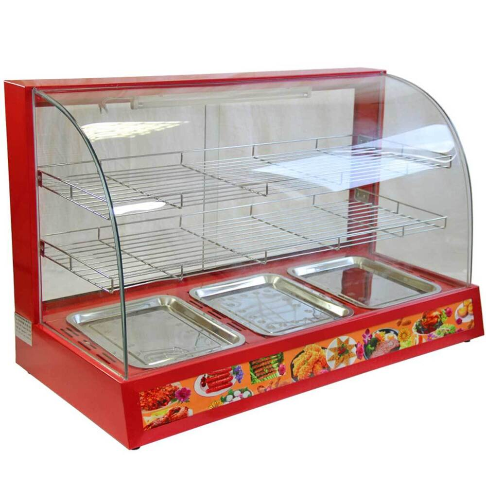 Hot Food Warmer Display Cabinet Counter Electric Pie Pasty Sausage ...