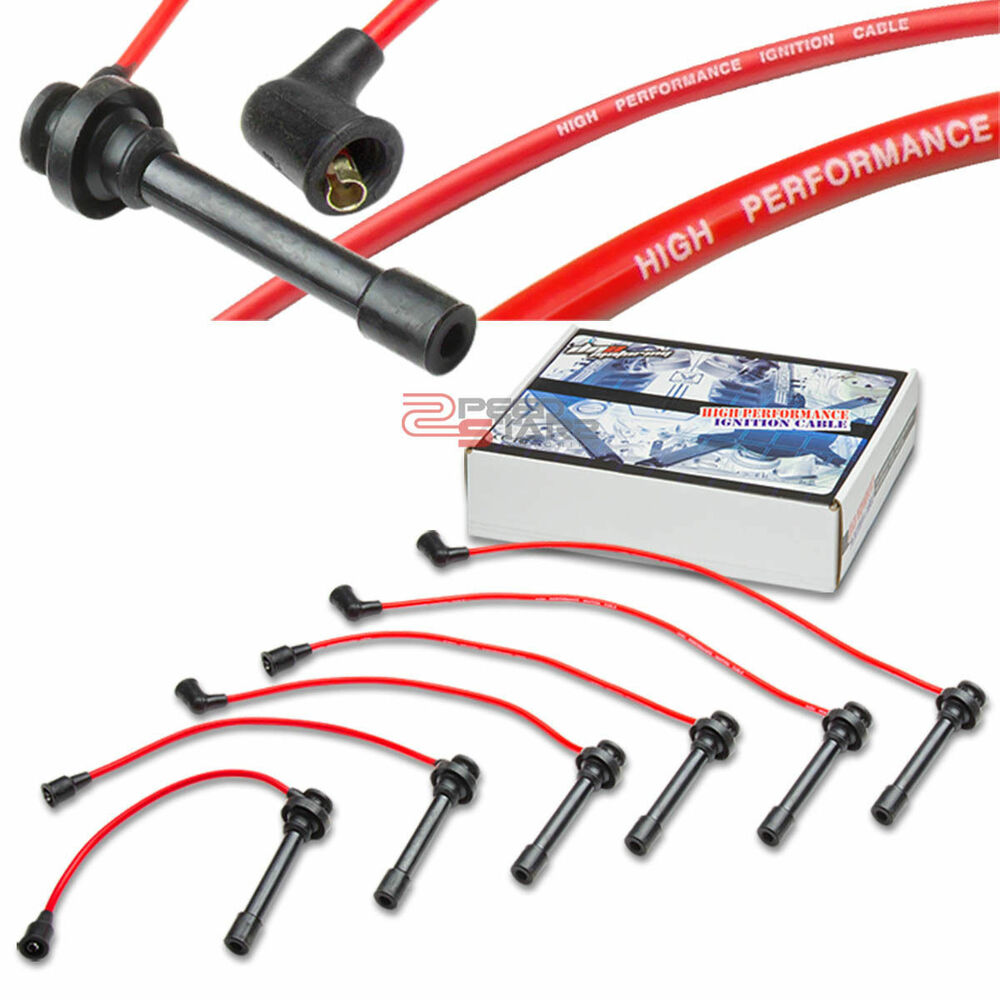 Spark Ignitor Cable : Galant g l v mm spark plug suppression core wires