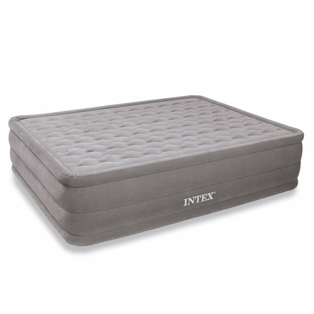 Intex Ultra Plush Raised Air Mattress W Built In Electric Pump Queen 66957e Ebay