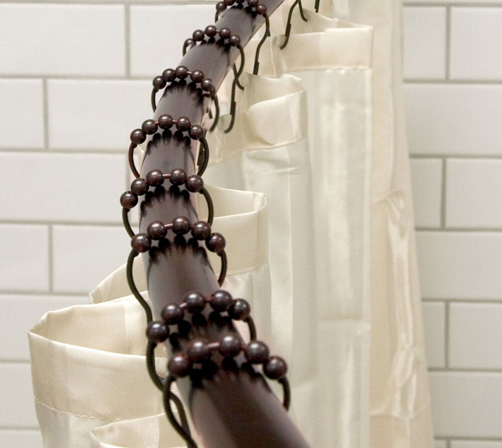 12 Heavy Duty Rollerball Oil Rubbed Bronze Shower Curtain