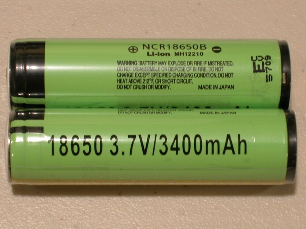 3 Panasonic Ncr18650b Li Ion Battery 3400mah 3 7v 18650