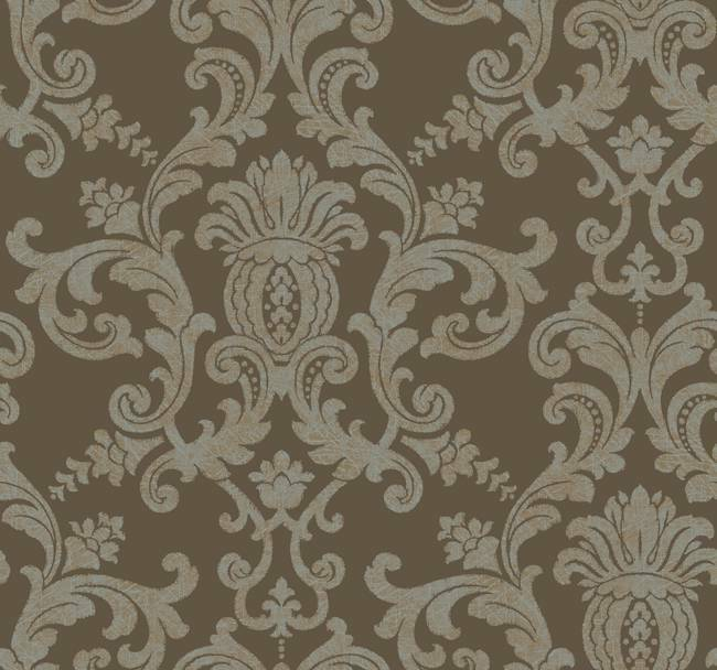 brown on brown damask wallpaper - photo #20