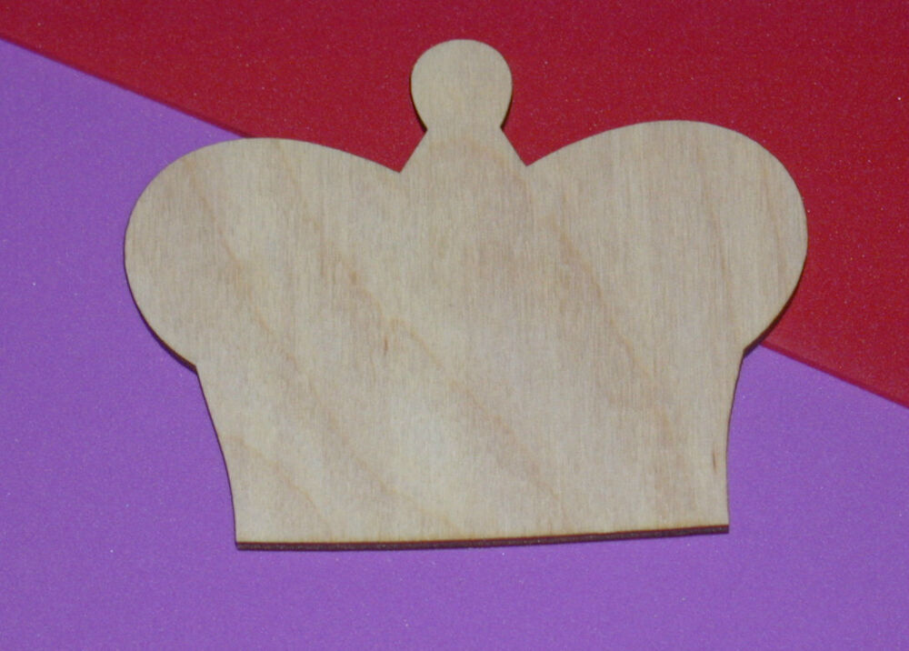 Simple Crown Unfinished Wood Shape Cut Out SC467 Crafts